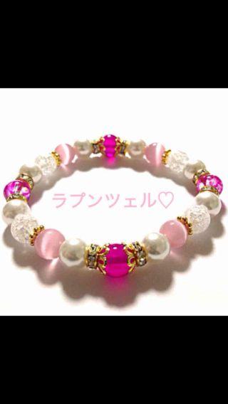 ラプンツェル可愛いレディースのパワーストーン 数珠