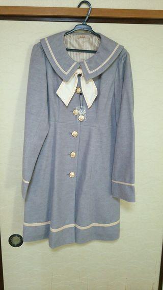 アマベル ピンクラインセーラー襟コート