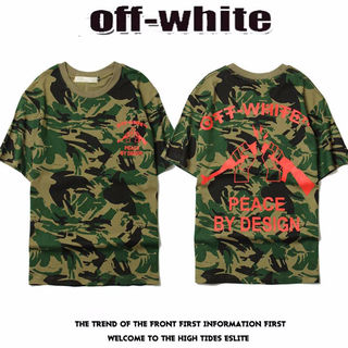 オフホワイト迷彩半袖 メンズTシャツ