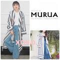 新品 MURUA Flower刺繍ガウン