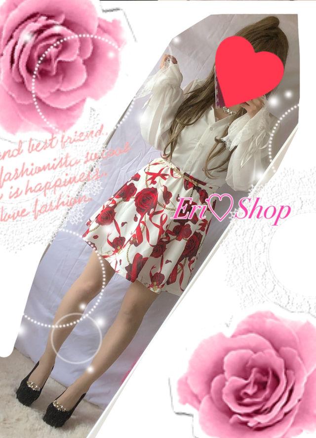新品タグ付きDaTuRaシャツ×ローズリボンスカート