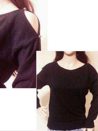 【COLZA】 肩みせシンプルセーター