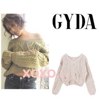 新品 GYDA ダメージニット トップス