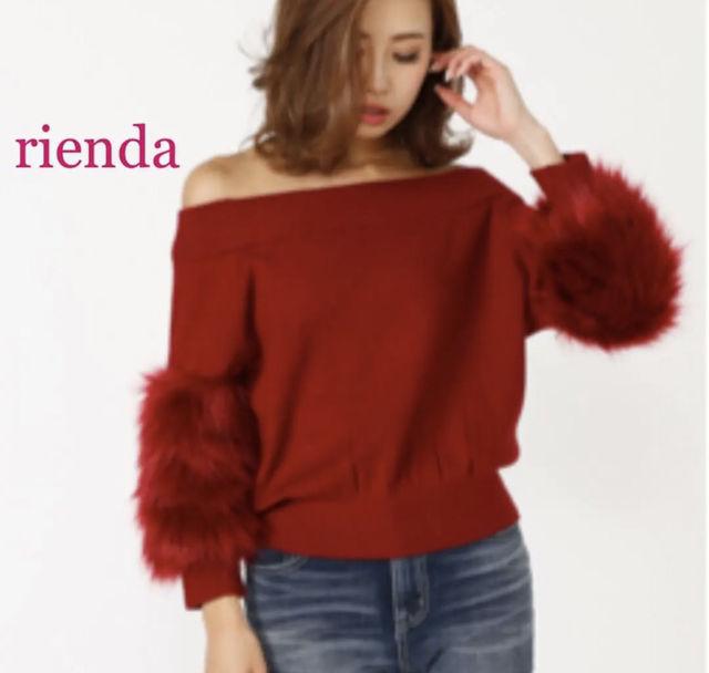 rienda  Faux Fur SLV Knit TOP(rienda(リエンダ) ) - フリマアプリ&サイトShoppies[ショッピーズ]
