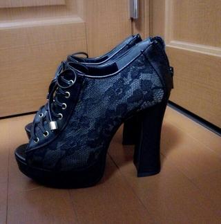 ヒール ブーツ ブラック