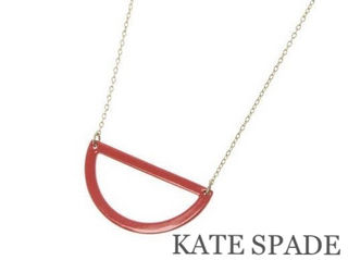 KATE SPADE【美品】ラウンドネックレスRed