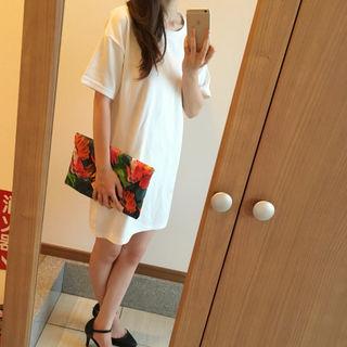 新品 HERE'S ワンピース ホワイト 韓国ファッション
