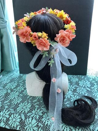 ピーチピンクな花冠
