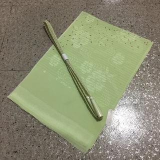 新品正絹 夏用 絽 帯揚げ帯〆セット