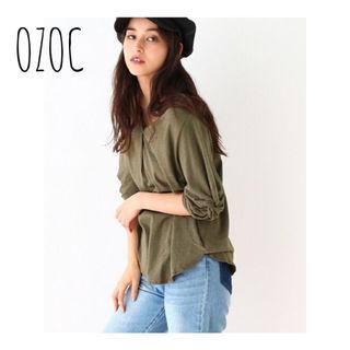 OZOC 袖ねじれプルオーバー
