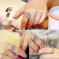 9号 シルバースーパーCZクラウン王冠ティアラリング指輪