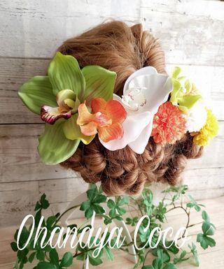 華眩い胡蝶蘭の髪飾り9点Set No244