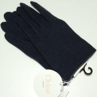 正規品/新品タグ付き クロエ(Chloe)カシミヤ 牛革手袋