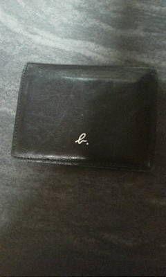 アニエスベー黒革製パスカードケース