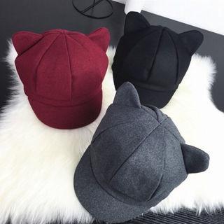 ちょこっと猫耳可愛いキャスケット帽子