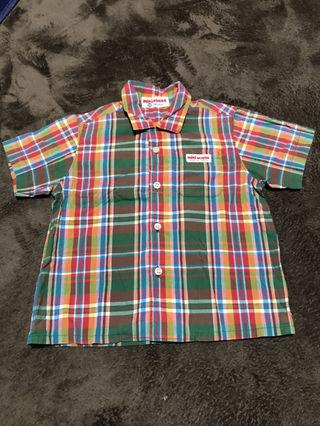 ミキハウス90サイズシャツ チェック可愛い