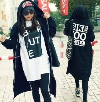 2018秋冬新作/バックプリント裏起毛ロングパーカー - フリマアプリ&サイトShoppies[ショッピーズ]