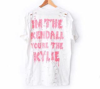 KENDALL & KYLIE DISTRESSED TEE