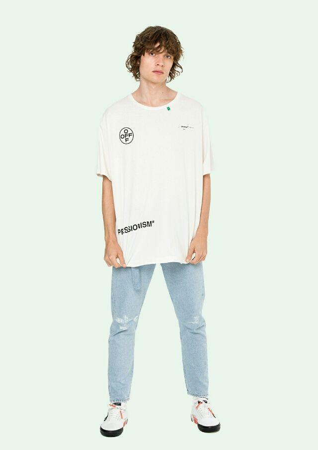 STENCILストライプオーバーサイズTシャツ(Off-White(オフホワイト) ) - フリマアプリ&サイトShoppies[ショッピーズ]