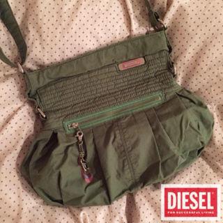 Diesel人気完売品裏地ボタニカル柄ショルダーBag