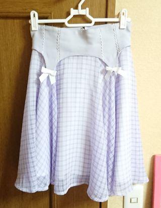 Secret Honeyギンガムチェックコルセット風スカート