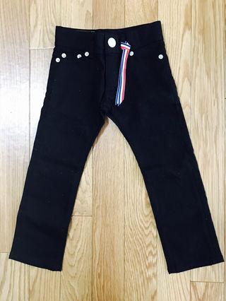 Right-on BAKENUMBER ブラック 長ズボン