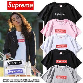【2枚セット】SUPREME 男女兼用 人気Tシャツ