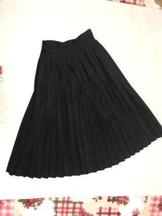 コムサ デ モード  ウール プリーツ ロングスカート