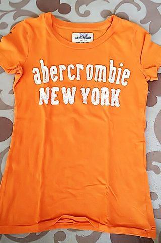 アバクロンビー&フィッチ キッズ オレンジ Tシャツ