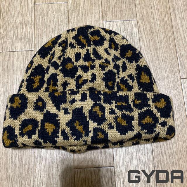GYDAヒョウ柄ニット帽