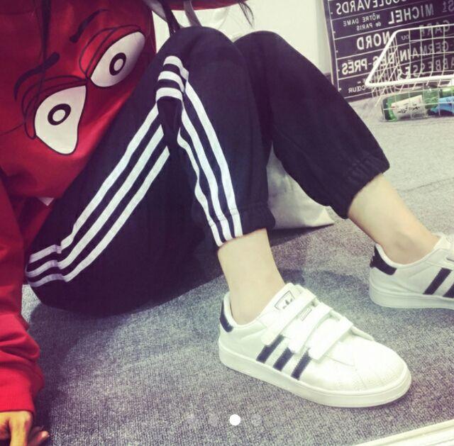 adidas好きに/ラインパンツ/S