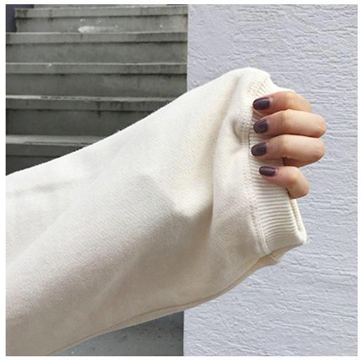 ホワイト パーカー スウエット ゆったり レディース 長袖