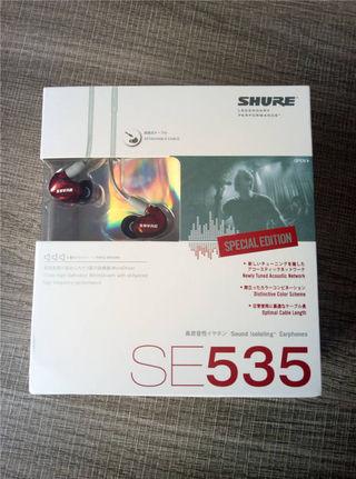 SHURE SE535 高音質 高遮音性 イヤホン レッド