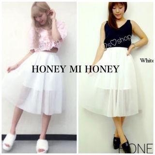 HONEY MI HONEY メッシュスカート