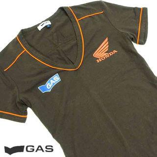 美品!! GAS×HONDA 半袖VネックTシャツ K57