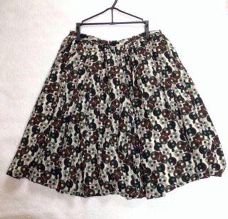 peu pres きのこ柄スカート