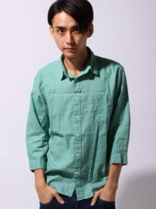 メンズ 七分袖シャツ