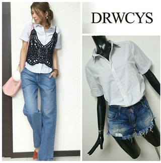 DRWCYS*ストライプショートスリーブシャツ