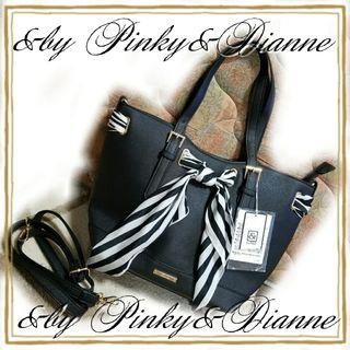 新&by Pinky&Dianneスカーフ付トートバッグ