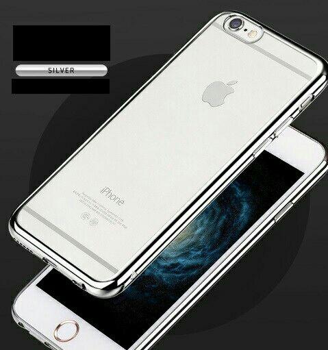 3 iPhoneカバー ソフト クリアケース シルバー