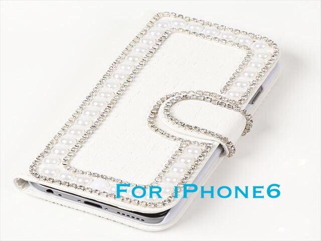 ハンドメイドiPhone6 カバー ホワイト