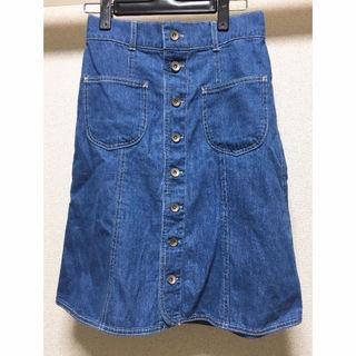 デニム膝下スカート AUNT MARIE'S