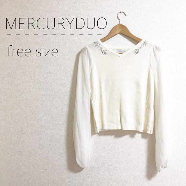 MERCURYDUO ビジューニット(MERCURYDUO(マーキュリーデュオ) ) - フリマアプリ&サイトShoppies[ショッピーズ]
