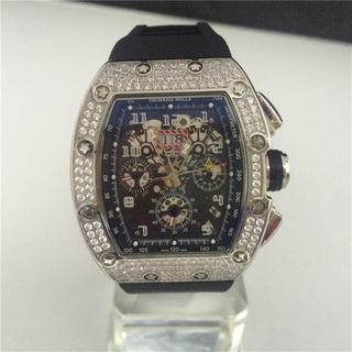リシャールミル 腕時計 機械式 ダイヤ 国内発送