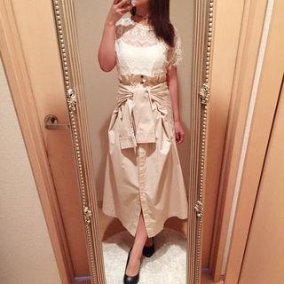 新品 トレンチ ロングスカート スカート ラグナムーン系