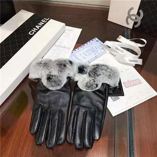 エルメスレディース冬暖かいレザー手袋