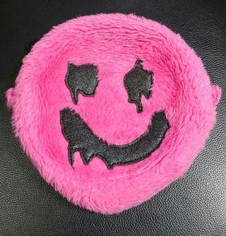 WWLワーラブ デッドスマイル ファーポーチ ピンク