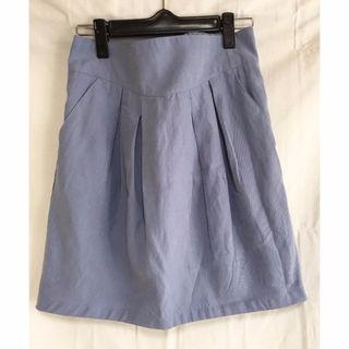 薄手で爽やかなブルーのスカート mystic