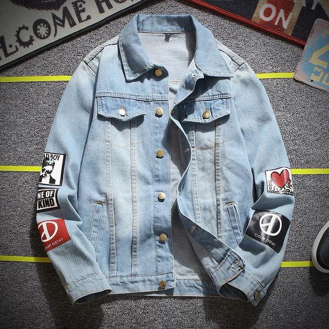 秋 原宿風 メンズファッション コート デニムジャケット - フリマアプリ&サイトShoppies[ショッピーズ]