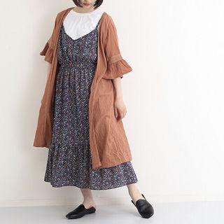 秋カラー【新品】ブラウンのガウン